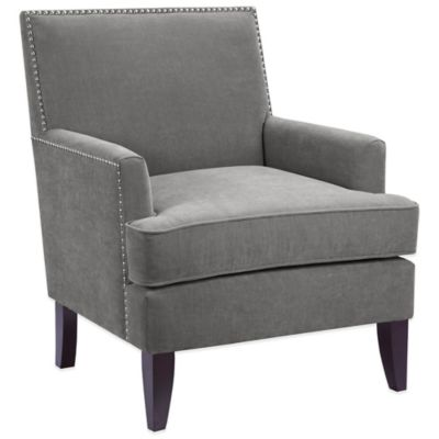 Madison Park Track Arm Club Chair in Charcoal