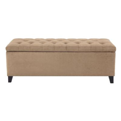 Beige Ottomans & Benches