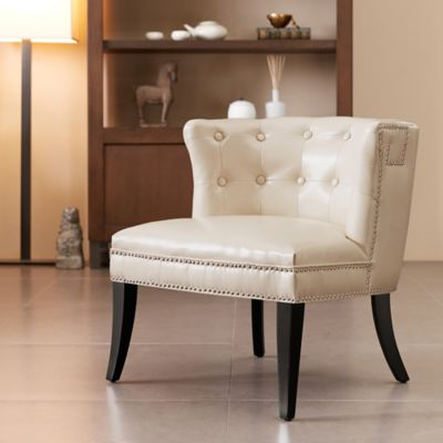 Madison Park Shelter Slipper Chair in Ivory