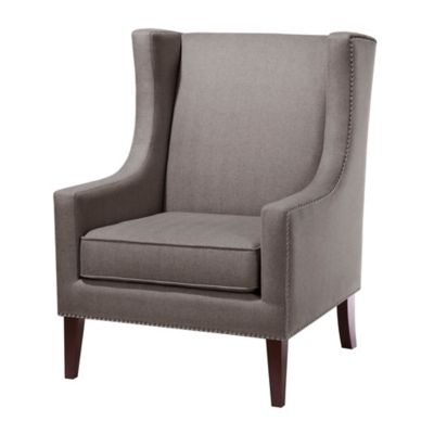 Madison Park Wing Chair in Charcoal