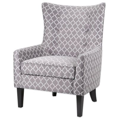 Madison Park Shelter Wing Chair in Blue