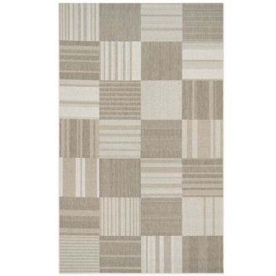 Couristan® Afuera Patchwork 6-Foot 6-inch x 9-Foot 6-Inch Indoor/Outdoor Area Rug in Beige/Ivory