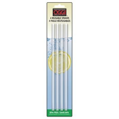 Oggi™ Reusable Acrylic Straws (Set of 4)