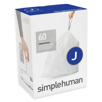 simplehuman® Code J 60-Pack 30-40-Gallon Custom Fit Liners