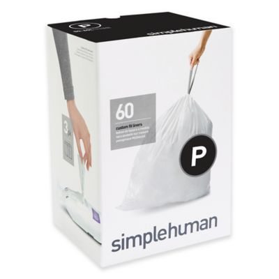 simplehuman® Code P 60-Count 13-16-Gallon Custom Fit Liners