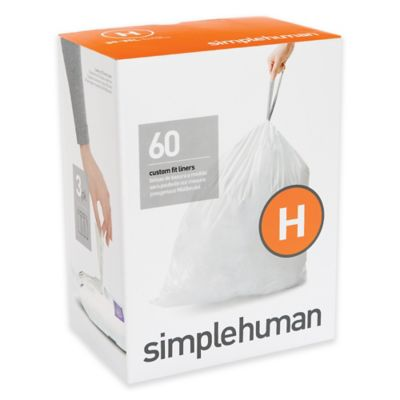simplehuman® Code H 60-Pack 8-Gallon Custom Fit Recycling Liners