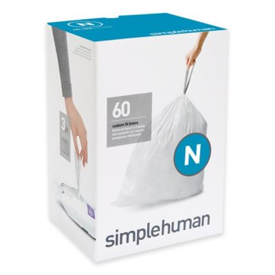 simplehuman® Code N 60-Pack 12-Gallon Custom Fit Liners
