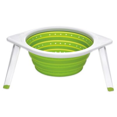 Chef'n SleekStor Collapsible Colander in Green