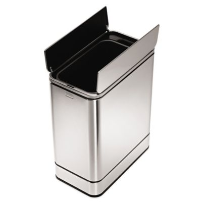 simplehuman® Stainless Steel Butterfly 48-Liter Sensor Trash Can
