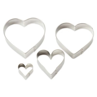 Ann Clark 4-Piece Heart-Shaped Cookie Cutter Set