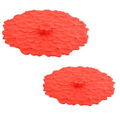 Charles Viancin® Medium Geranium Silicone Lid in Red
