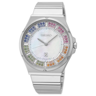 Seiko Matrix Ladies' 35.5mm Limited Edition Swarovski® Crystal Watch in Stainless Steel