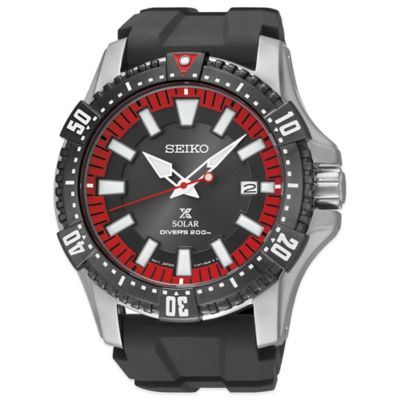 Seiko Men's 43mm Prospex Solar Driver Watch in Black Ion Stainless Steel