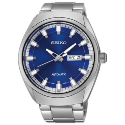 Seiko Recraft Men's 44mm Automatic Watch in Stainless Steel with Blue Dial