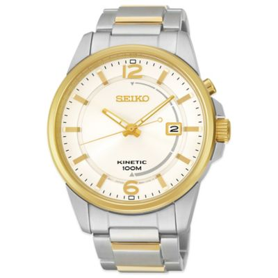 Stainless Steel with White Dial Men's Watches