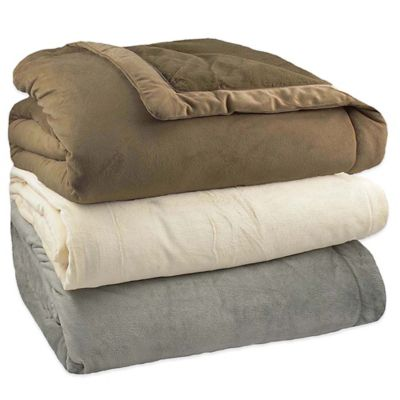 ComfortTech™ Stratton 3M™ Thinsulate™ Twin Blanket in Pearl