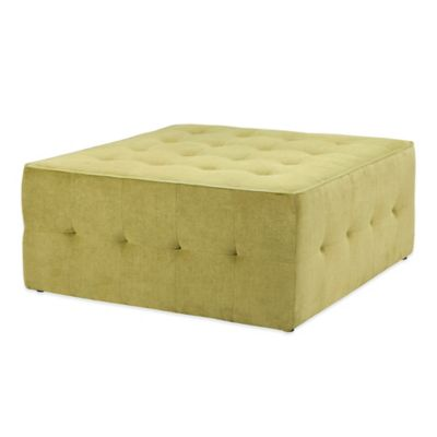 Madison Park Oversized Cocktail Ottoman in Green