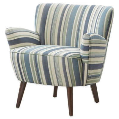 Madison Park Multi-Stripe Sophie Chair in Blue