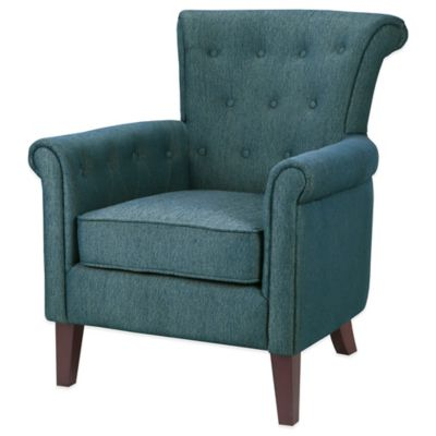 Madison Park Tomlin Chair in Peacock Blue