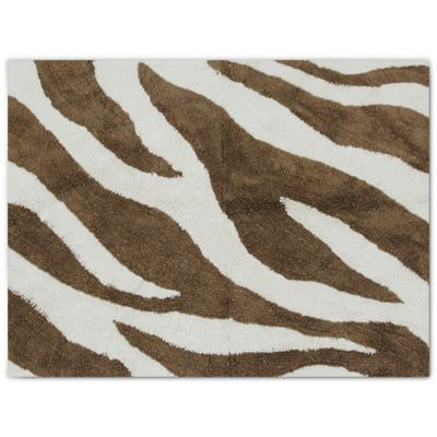 Pam Grace Creations Zara Zebra Decorative Throw Rug