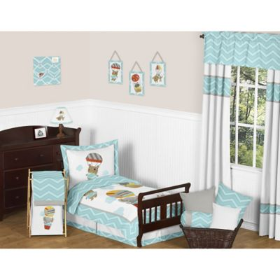 Sweet Jojo Designs 5-Piece Balloon Buddies Toddler Bedding Set