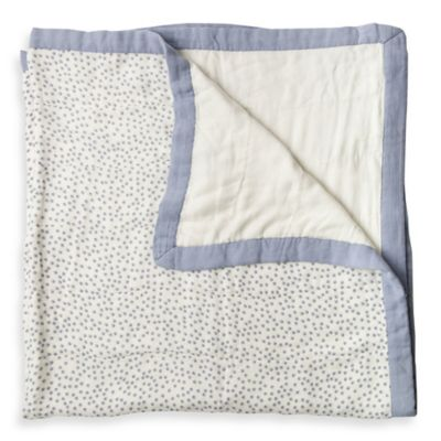Little Unicorn Polka Dot Muslin Quilt in Periwinkle