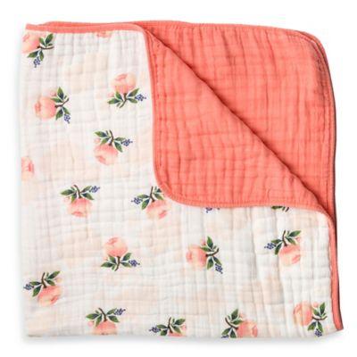 Little Unicorn Watercolor Rose Cotton Muslin Quilt