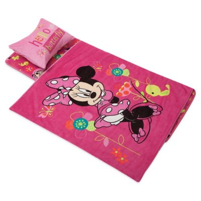 Disney® Aquatopia® Minnie Mouse Deluxe Memory Foam Nap Mat, Pillow and Blanket Set in Pink