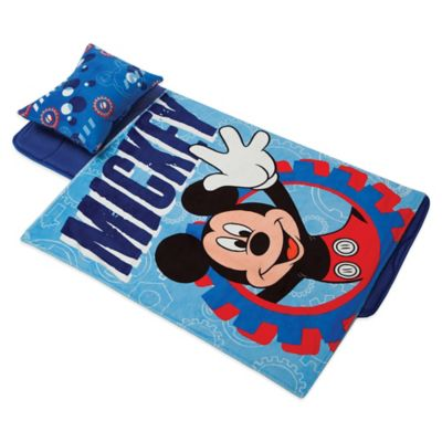 Disney® Aquatopia® Mickey Mouse Deluxe Memory Foam Nap Mat, Pillow and Blanket Set in Blue