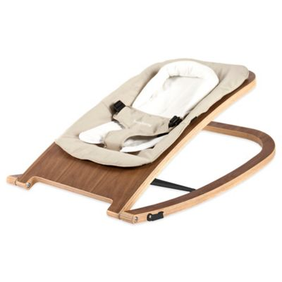 babyhome® Wave Rocker in Walnut/Sand