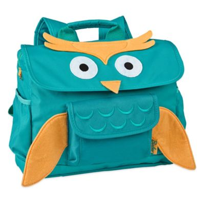 Bixbee Animal Pack Owl Backpack in Aqua