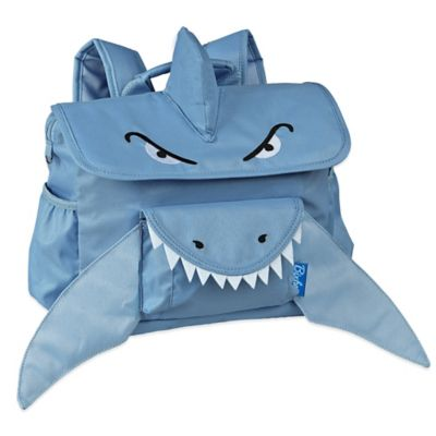 Bixbee Animal Pack Shark Backpack in Blue