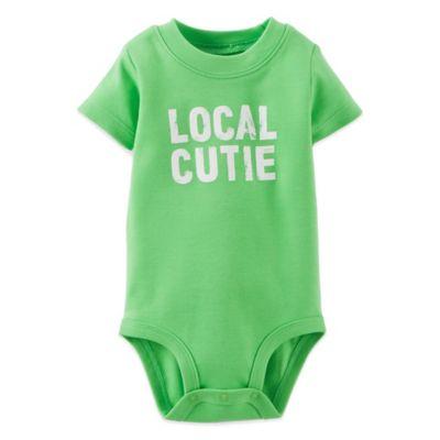 Carter's® Size 6M Short-Sleeve Local Cutie Bodysuit in Green