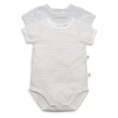 Size 6-9M 2-Pack Short-Sleeve Bodysuit in Grey
