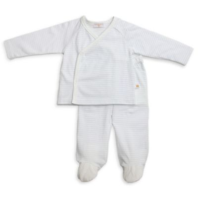 Rosie Pope® Size 6-9M 2-Piece Kimono Top and Pant Set in Blue Stripe