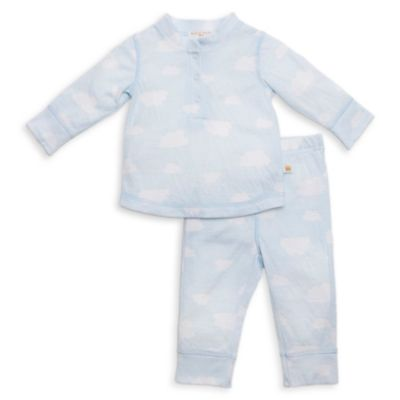 Rosie Pope® Size 6-9M 2-Piece Cloud Henley T-Shirt and Pant Set in Blue