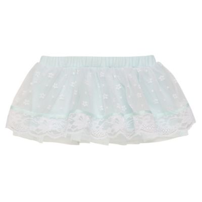 Baby Starters® Size 6M Tutu with Lace Overlay in Mint/White