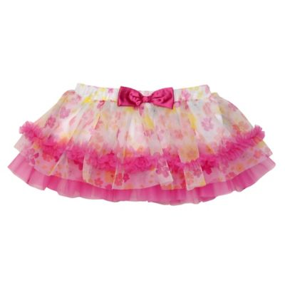 Baby Starters® Size 6M Flower Tutu Skirt in Pink/White