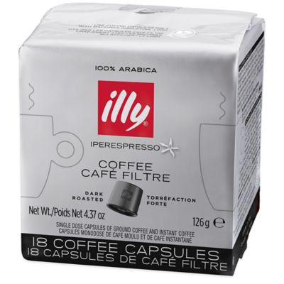 illy® Iper 18-Count Coffee Capsules Dark Roast for illy Y5 Duo Iper Espresso and Coffee Machine