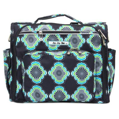 Ju-Ju-Be® BFF Moonbeam Diaper Bag in Black/Green/Blue