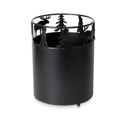 Silhouette Lodge Wastebasket in Natural