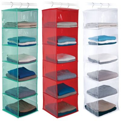 Closetware 6-Shelf Open Front Sweater Organizer in Red