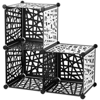 Reversible Cube Grid in Black/White