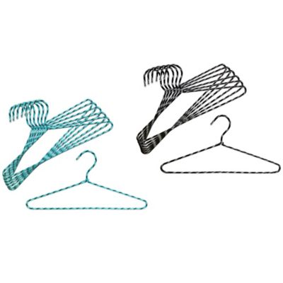 Studio 3B™ Braided Cord Hangers in Aqua (Set of 6)