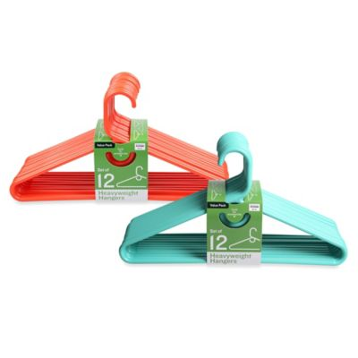 12-Pack Heavyweight Hangers in Red