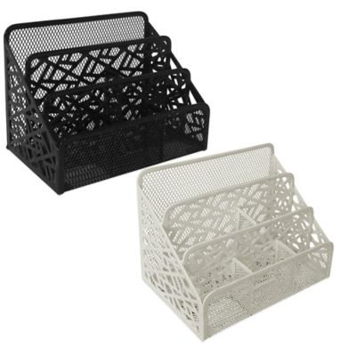 Stix Metal Desk Organizer in White