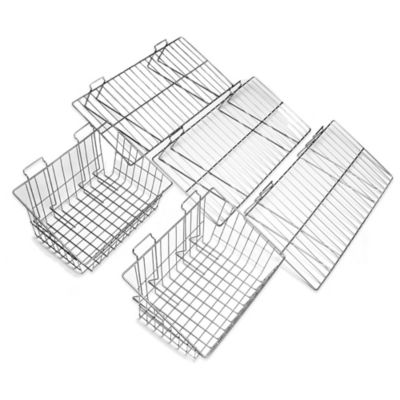 Proslat 5-Piece Shelf & Basket Kit in Silver