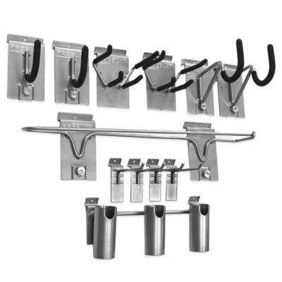 Proslat 12-Piece Sports Hook Kit in Silver