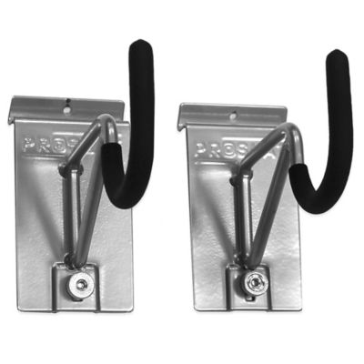Proslat 2-Pack Super Duty/Bike Locking Hook in Silver