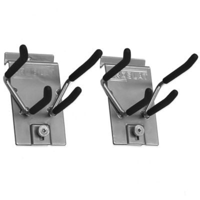 Proslat 2-Pack Locking Ski Rack Hook in Silver